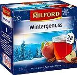 MILFORD Wintergenuss Früchtetee mit Zimt-Apfel-Aroma 28 Beutel à 3 g