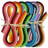 Juya Papier Quilling Set 720-Streifen 36 Farben 54cm Länge