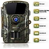 """SGODDE Wildkamera,16MP 1080P Full HD 5.0 Jagdkamera Infrarot-Nachtsicht bis zu 65 Fuß/20m,42 IR LEDs Bewegungsmelder 120 ° Weitwinkelobjektiv IP66 Wasserdicht 2.4"""" LCD 0,7 Sekunden Auslösezeit"""