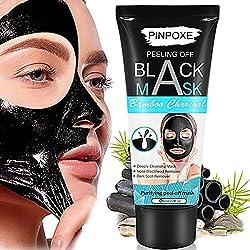 PINPOXE - Máscara Exfoliante con Carbón de Bambú, Negra, 60 g