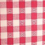 Hans-Textil-Shop Stoff Meterware Karo 1x1 cm Herzen Pink