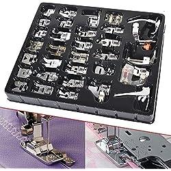 ONEVER 32pcs à coudre Crafting Presser pieds Pied Pied Set pour Janome Toyota Brother chanteur domestique Bas Shank Machine à coudre