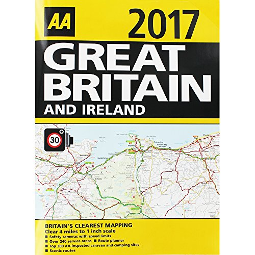 Mapas de carretera de 2017de Gran Bretaña e Irlanda, de AA