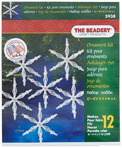 Vacanza ornamento perline cristallo di ghiaccio-Kit fiocco di neve 3