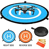 "Pista de aterrizaje de drones, 30""/75cm Impermeable Helicoptero Plegable Portátil Helicoptero Landig Mat para DJI Mavic Pro P"