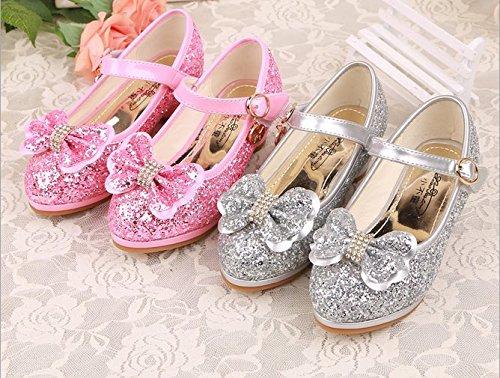 54ebcc382fbeeb Ohmais Enfants Filles Chaussure cérémonie Ballerines à bride Fête  Demoiselle d'honneur Mariage Escarpin à