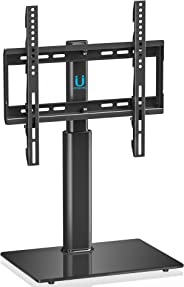 FITUEYES Universal TV Stand with Swivel Mount fit 32 to 50 inch Screen Height Adjustable Black TT104501GB