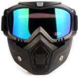 Gulfscape Outdoor Riding Sports Eyewear Windproof Motorcycle Goggles Detachable Mask