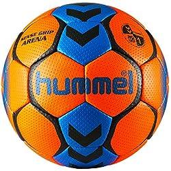 HUMMEL BALLON DE HANDBALL SENSE GRIP ARENA (Shocking orange / Diva blue, T1)