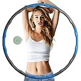 Cevikno Hoelahoep voor volwassenen, fitnesshoelahoep voor gewichtsvermindering en massage, 6-8 segmenten, afneembare hoola ho