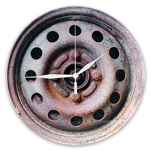 reloj-de-pared-llanta-de-caucho-oxidada