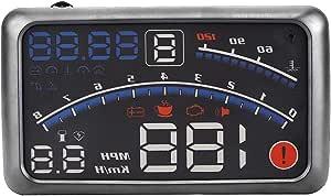 Vgeby Universal Hud Head Up Display Mph Km H Geschwindigkeitsbegrenzungswarnung Plug Play Für Auto Mit Obd Ii Port Euobd Sport Freizeit