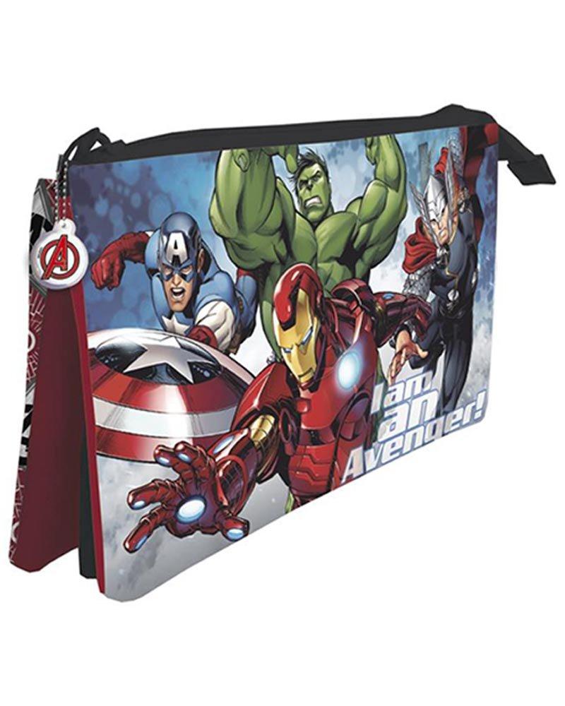 LOS Vengadores de Marvel Estuche portatodo con Tres Compartimentos