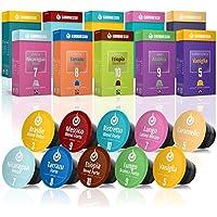 Gourmesso Coffret Découverte - 100 capsules de café compatibles Nespresso® - Café équitable