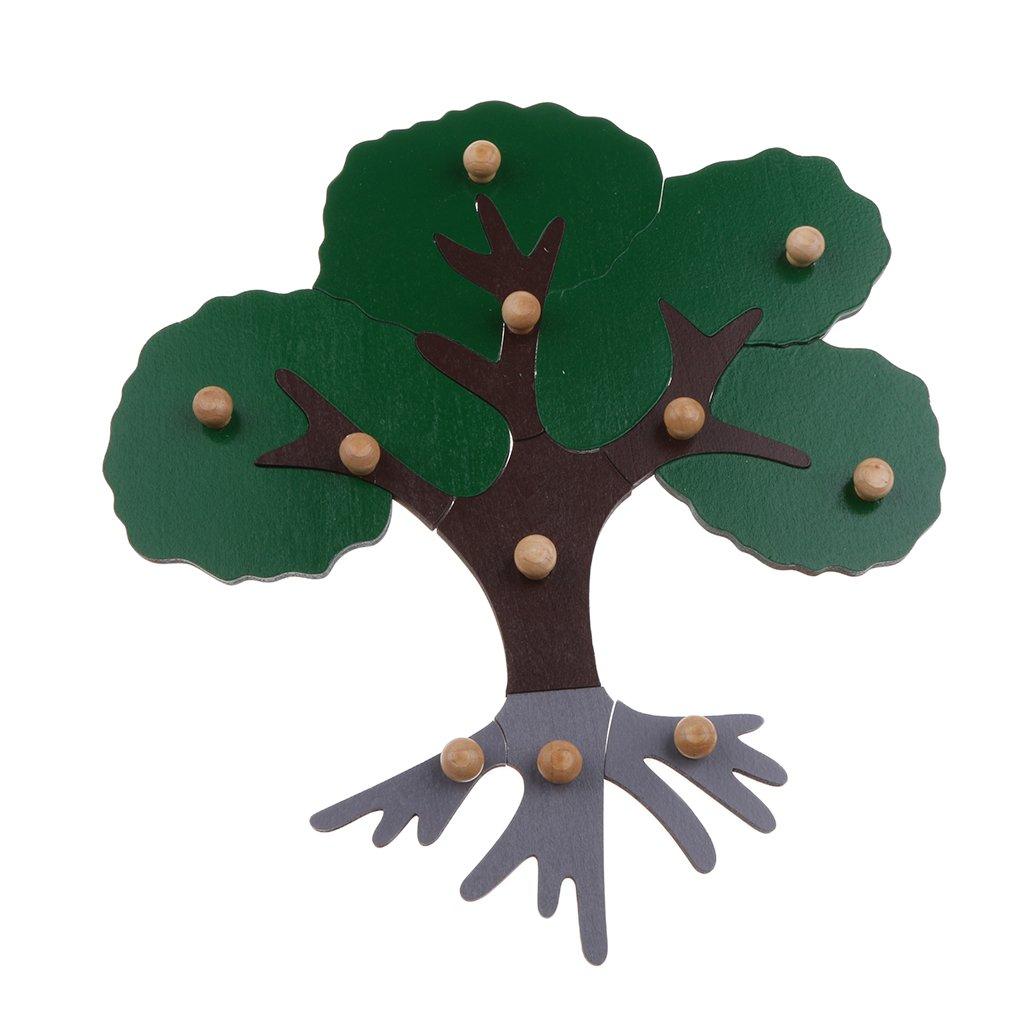 Giocattolo per bambini in legno Montessori Animal Peg Jigsaw Puzzle