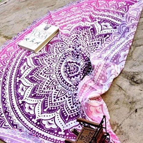 hippie-tonsee-beach-tappetino-per-yoga-bohemian-roundie-copriletto-indian-mandala-rosa-acceso-taglia