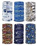 6 pièces/Paquet Bandanas imprimés Multifonctions Tissu, 12 Styles écharpe Choix, Bandeau, Moto Bandana, écharpe ect....