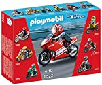Kids will love racing this motorcycle with its red sleek design. The first in a series of six collectible sets this motorcycle was built for speed. Set includes one figure motorcycle helmet and additional accessories. Play with this set on its own or...