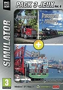 PACK 3 JEUX SIMULATOR Vol.6 : Bûcheron + Transports routiers + Port
