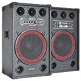 Fenton SPB-12 PA Lautsprecher Aktivboxen Set (800 Watt max, 30 cm (12
