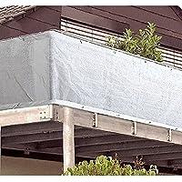 MA-Trading–Blanco Visual para balcones con anillas 500x 90cm Plástico alumiu mösen