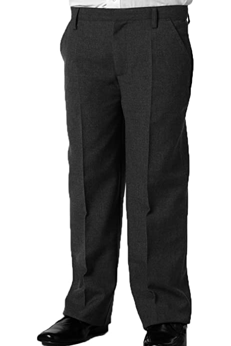 Grey or Navy Black 42in Senior Boys Sturdy Fit Trousers Waists 26 in Charcoal