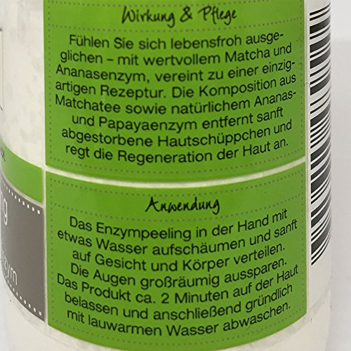 Wellness & Beauty Enzympeeling mit wertvollem Matcha & Ananas- Enzym 50g