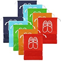 CHRISLZ 10pc Chaussures De Voyage Sac De Finition De Sac Chaussures Antipoussière Sac De Rangement Bundle Poche…