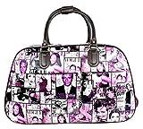 Große Handtasche, Reisetasche, Handgepäck, Kabinengröße, für Wochenendtrips, Trolley-Tasche, - Purple - Hollywood Actor Actress Print - Größe: Einheitsgröße