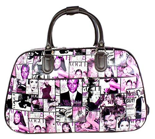 Big Handbag In volo Holiday Travel-Borsone per Weekend Borsa-Trolley bagaglio a mano Purple - Hollywood Actor Actress Print