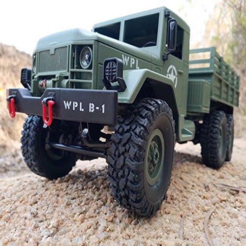 Zantec Control remoto camión de militar 6 ruedas Drive Off-Road RC modelo de coche de Control remoto de escalada de juguetes de regalo-2.4G