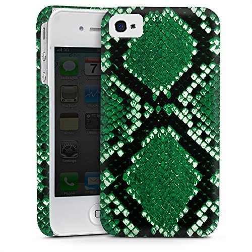 Apple iPhone 5 Housse Outdoor Étui militaire Coque Peau de serpent Look Serpent Cas Premium mat
