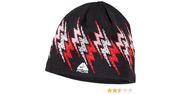 Nike ACG Unisex Adults Beanie Hat Black//Red Small//Medium 216635 010