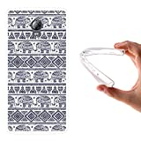 Lenovo Vibe P1 Hülle, WoowCase Handyhülle Silikon für [ Lenovo Vibe P1 ] Blauer Elefant Handytasche Handy Cover Case Schutzhülle Flexible TPU - Transparent