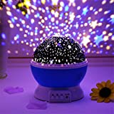 DPISZONE Kids Moon Star Projector Night Light Toys for 2-8 Year Old Girls Gifts 360 Degree Rotation and 8 Color Light Changin
