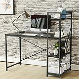 (BTM) Study Table Computer desk for Home Office Furniture Study Workstation Table Laptop Table Desk Desktop Table Walnut Coffee (Black)