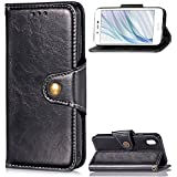 For Sharp Aquos Sense SHV40 Case, [Extra Card Slot] Codream [Wallet Case] PU Leather TPU Casing Grip [Drop Protection] Case Compatible With Sharp Aquos Sense SHV40, Black