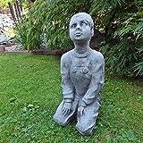 Steinfigur Frau Gärtnerin Gartenstatue Frauenstatue Büste Steinguss Gartenfigur