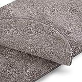 casa pura Teppich Läufer Uni Silbergrau | Qualitätsprodukt aus Deutschland | Gut Siegel | Kombinierbar mit Stufenmatten | 19 Breiten und 18 Längen (66 x 150cm)