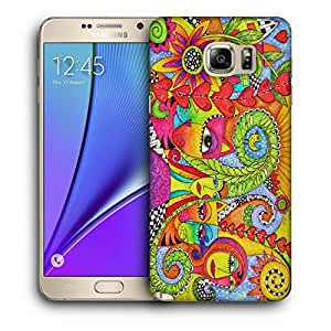 Snoogg Abstract Art Faces Designer Protective Back Case Cover For SAMSUNG Galaxy NOTE 5