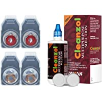CleanZol Monthly Disposable Zero Power Color Contact Lenses With CleanZol 100 ml Multipurpose Solution & Lens Case (4…
