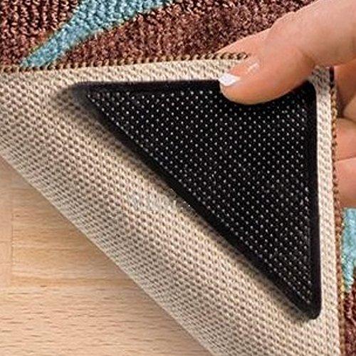 Triangulos Antideslizante para Alfombra - 8 piezas- reutilizable