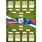 Fußball WM 2018 Spielplan als Poster