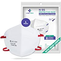 Careview N95 | FFP2 Model No. CV1221H N95 Mask, with 6 Layered Filtration - DRDO SITRA and BIS approved(Pack of 1)