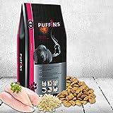 Bild: Fleisch Puffins Junior Trockenfutter 1 kg für Hunde in der Aufbau und Wachstumsphase Premium Hundeffutter mit Fleischfüllung speziell für WelpenJunghunde kleiner bis mittelgroßer Rassen