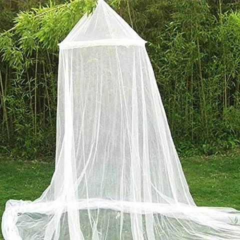 Bianco cupola zanzara del bambino per il bambino Presepe Canopy reticolato Dome Hanging 187 centimetri - Canopy Toddler Crib