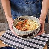 Kreative japanischen Stil Retro Keramikschale Praktische Wohnzimmer Küche Frühstücksgeschirr Runde Obstsalat Schüssel Kreative praktische Ramen Suppenschüssel 1000ml