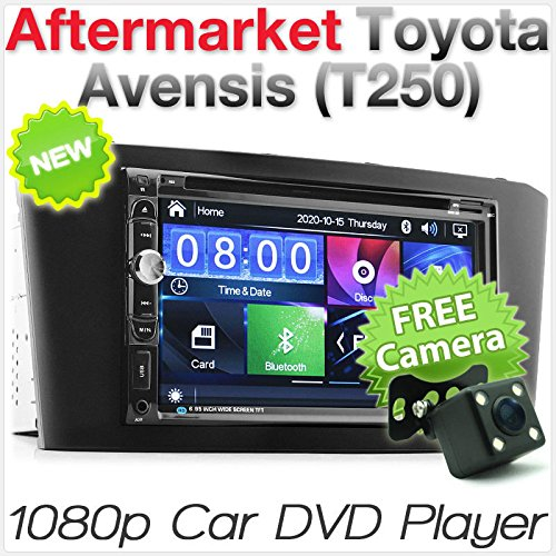 Aftermarket Auto Toyota Avensis 2003-2008 T250 Auto DVD USB MP3 Player Radio Stereo Head Unit CD Aftermarket Radio