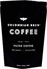 Colombian Brew 100% Arabica Filter Coffee, Roast Ground and Strong, 250g