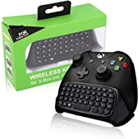 Xbox One Keyboard BestFire 2.4G Mini Wireless Chatpad Message Game Controller Keyboard with Headset Audio Jack for…